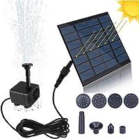 Bomba de Fuente Solar, Bomba de Estanque Solar de 1.4W 190L / H, Bomba de Fuente de Agua con EnergíA Solar Flotante PortáTil, Bomba de Fuente Flotante Para JardíN, Piscina, con 6 Boquillas