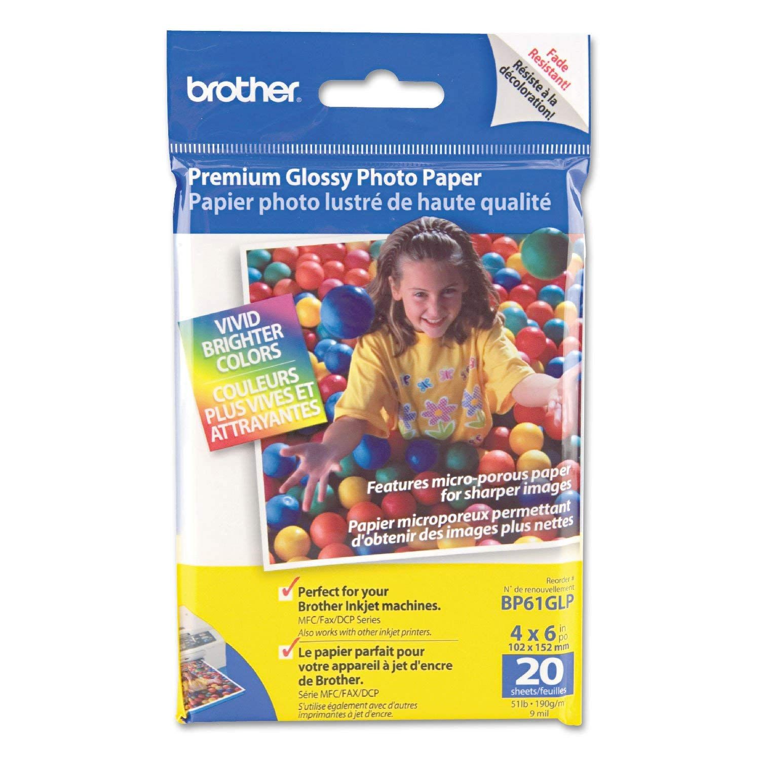 Brother Premium Glossy Photo Paper - K31339 [Office Product] Brother Industries Ltd BRTBP61GLP