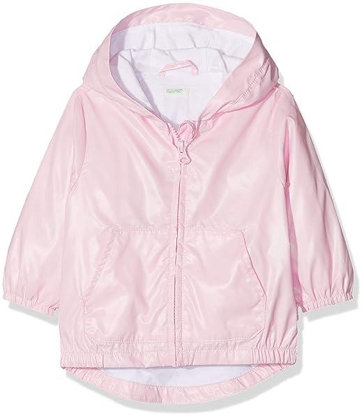 United Colors of Benetton Jacket, Abrigo Bebé-para Niñas, (Rosa 09h)