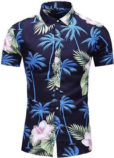 Sylar Camisa Hawaiana para Hombre Camisas de Manga Corta Tallas Grandes Casual Camisas de Playa con Estampado de cocotero Verano Vacaciones T-Shirt Blusas L-XXXXXXXL: Amazon.es: Ropa y accesorios