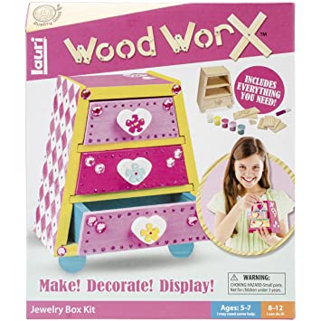 Amazoncom Lauri Wood WorX Jewelry Box Kit Toys Games