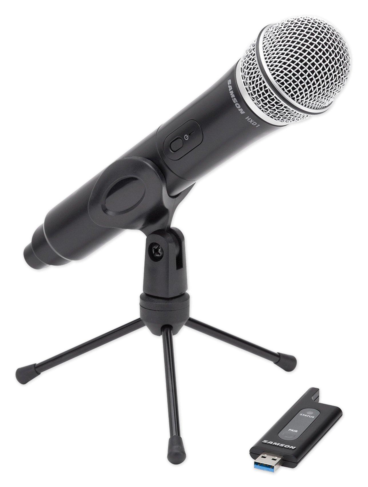 SAMSON Stage X1U Handheld USB Wireless Podcast Podcasting Microphone+Desk Stand