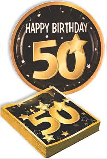 Amazon Celebrate Milestone 50th Birthday Party Pack 8 Large