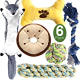M JJYPET Dog Toys Small Dog Chew Toys Teething Toys,No Stuffing and Stuffing Squeaky Toys