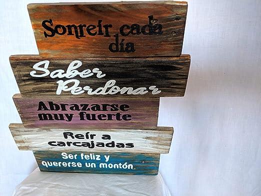 Cartel de madera con las Normas de la casa.: Amazon.es: Hogar