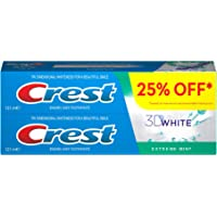 Crest 3D White Extreme Mint Toothpaste, 2 x 125ml