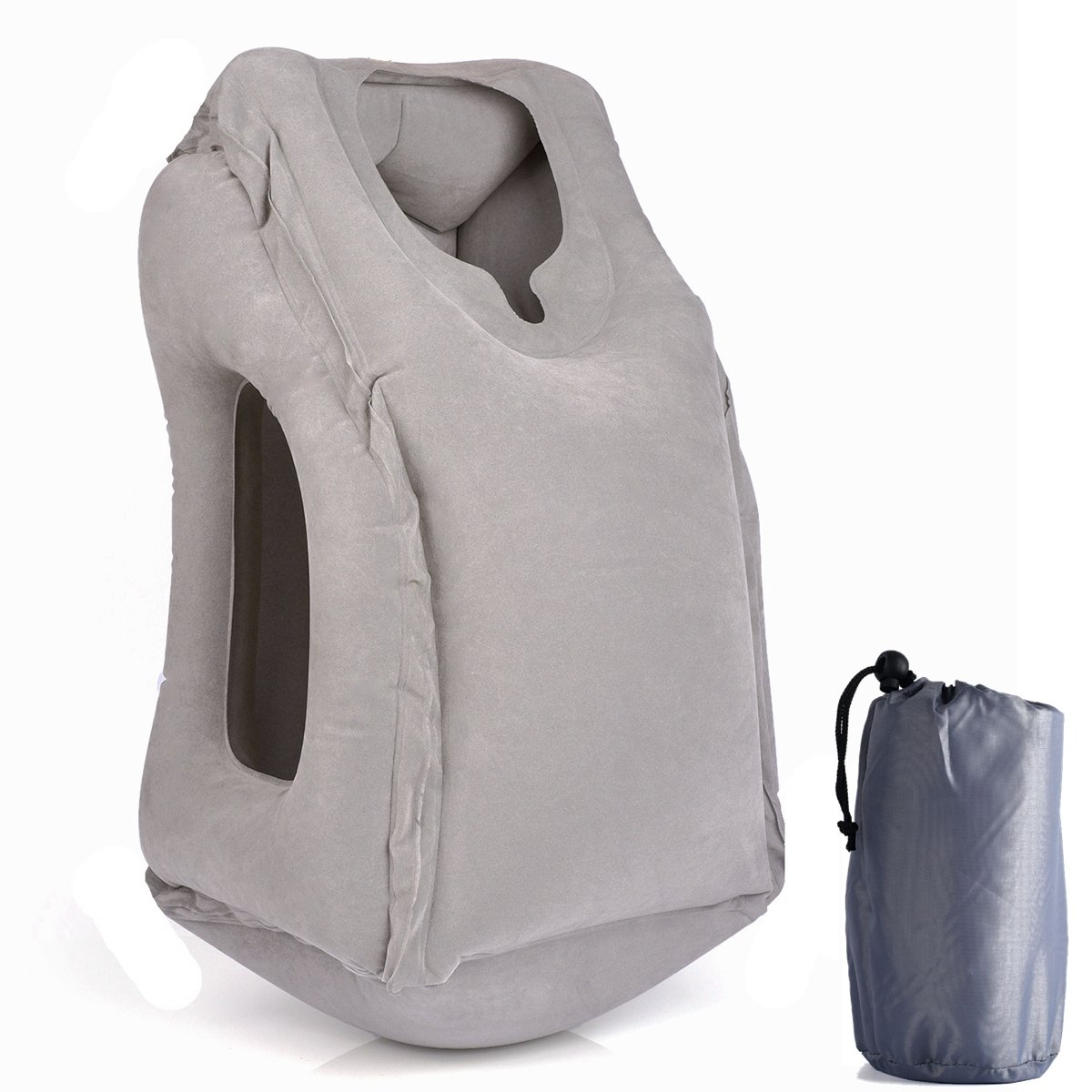 BEAUTRIP Innovative Inflatable Cushion Travel Pillows, Neck Head Chin Support Travel Body Nap Pillow Cushions for Airplane/Car/Bus/Train/Office/School