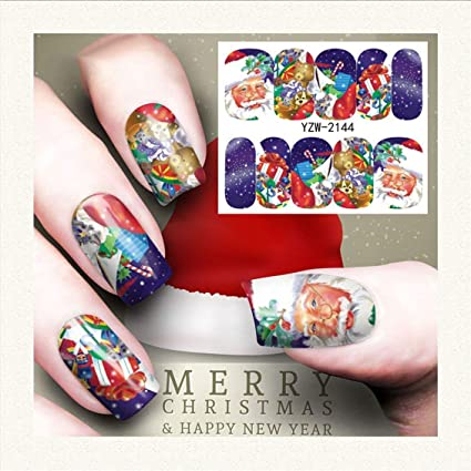 Etiqueta engomada del clavo del arte del clavo Año Nuevo Tatuajes ...