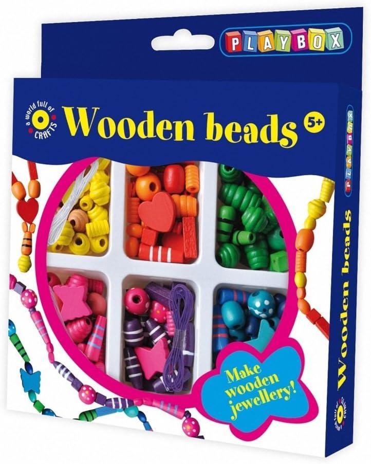 CRAZY CAJUN Playbox Wooden Beads Craft Set