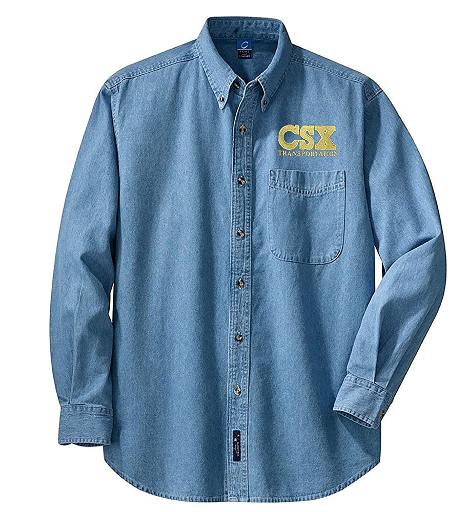 CSX Long Sleeve Shirt Maroon Adult 4XL den22LS