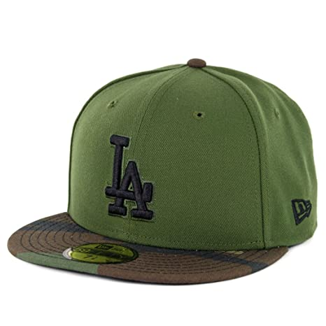 a09b6ab107f23 Image Unavailable. Image not available for. Color  New Era 5950 Los Angeles  Dodgers Fitted Hat ...