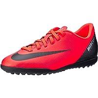 Nike Australia Boys Jr Vapor 12 Club GS Cr7 TF Fashion Shoes, Bright Crimson/Black-Chrome