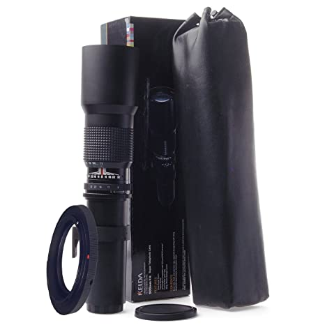 Kelda Super 500 mm f/8 - 32 teleobjetivo para Nikon D3000, D3100 ...