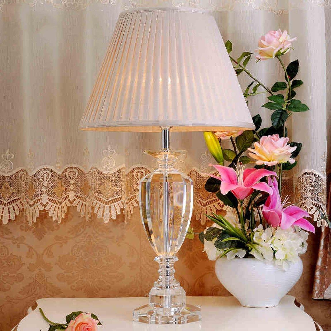 LRW ヨーロッパの現代のクリスタルテーブルランプベッドルームのベッドサイドリビングルームヴィラテーブルランプ (Size : L40*70cm) L40*70cm  B07D328TW4