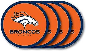 NFL Denver Broncos Vinyl Coaster Set (Pack of 4)