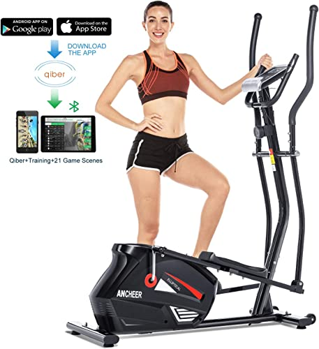 ANCHEER Elliptical Machine Trainer Magnetic Smooth Quiet Driven