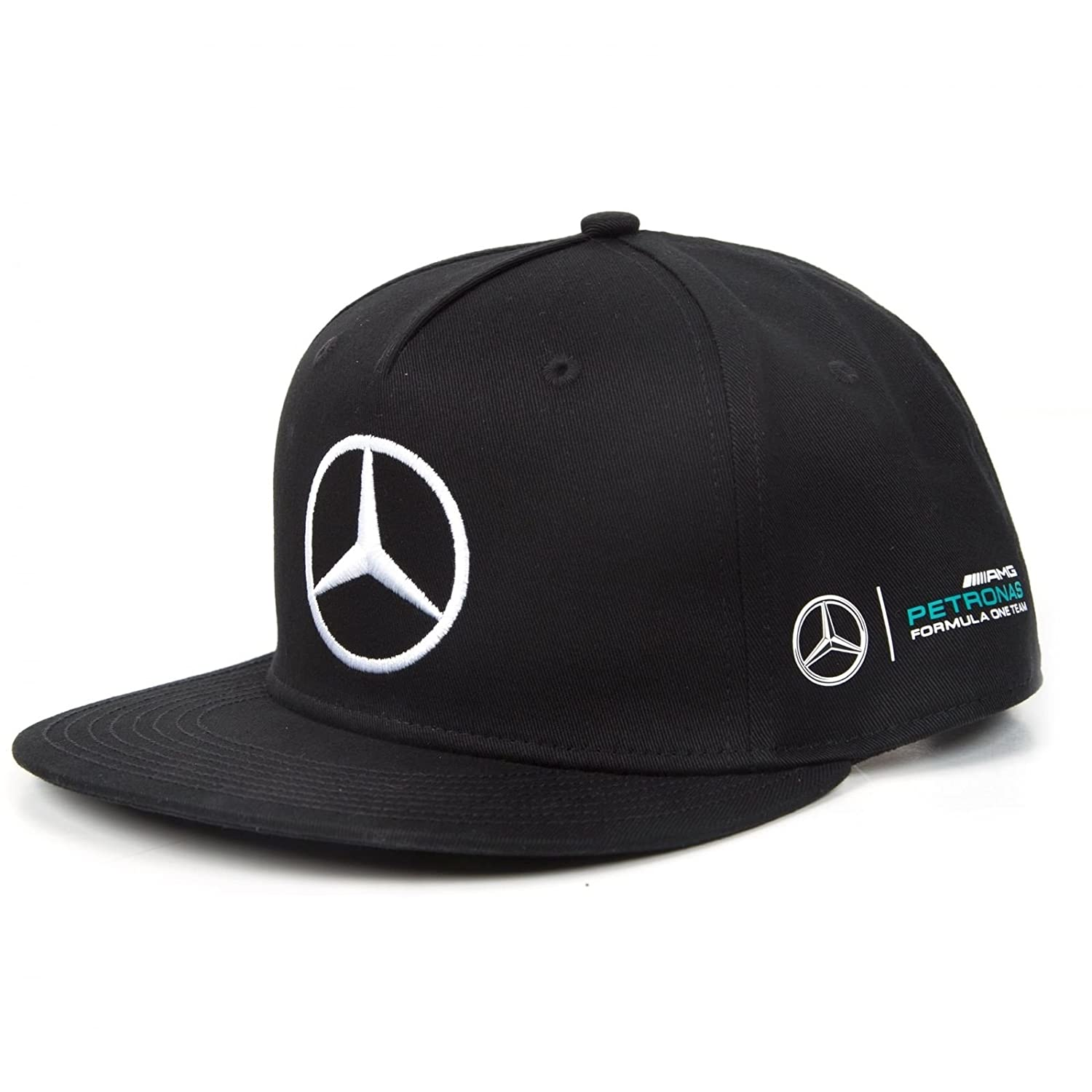 mercedes amg petronas hamilton flat brim casquette formule 1 f1 141171032 ebay. Black Bedroom Furniture Sets. Home Design Ideas