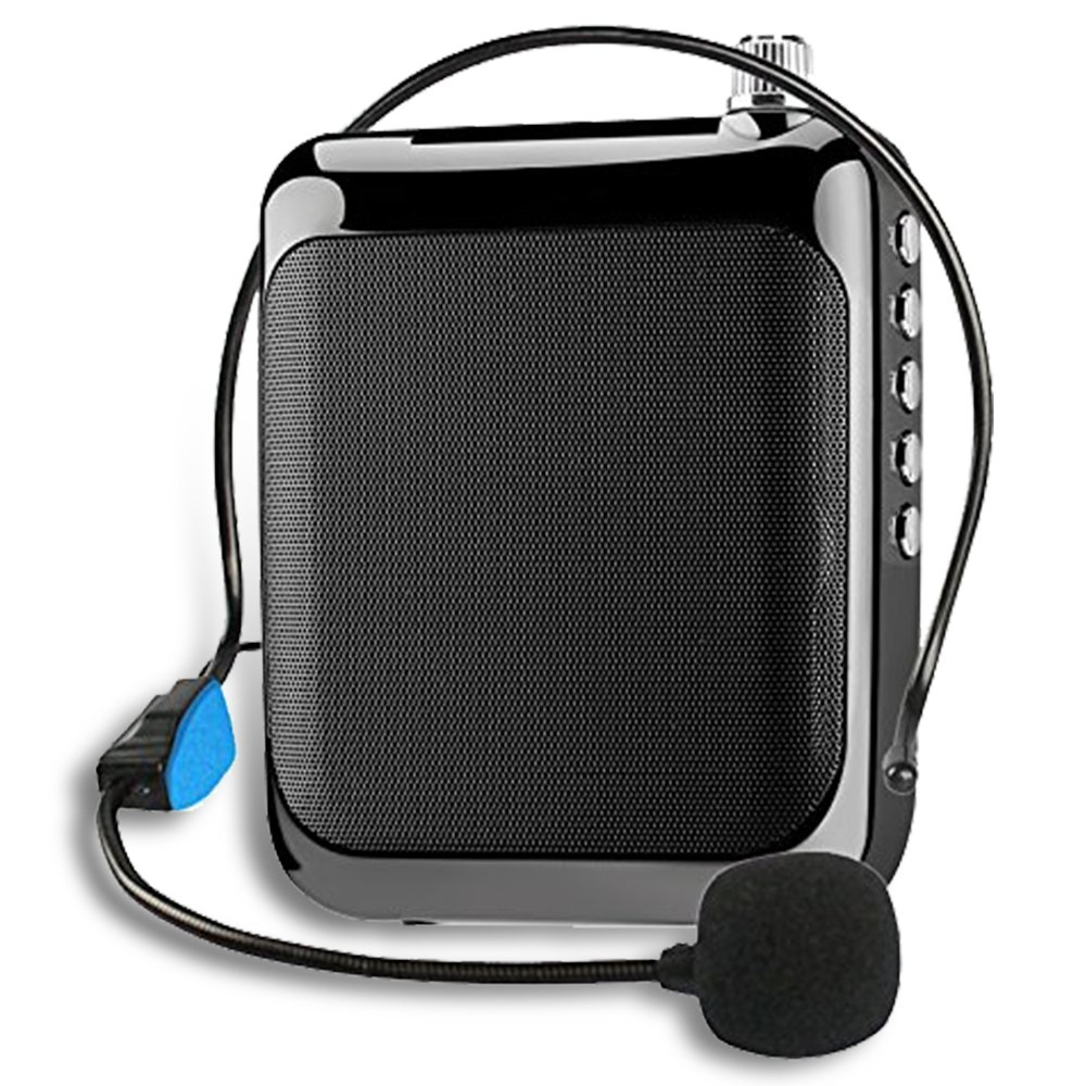 Voice Amplifier with Bluetooth, XIAOKOA 1500mAH Portable Rechargeable loudspeaker, support Bluetooth Phone Connect/FM/TF/SD Card, Suitable for Teachers, Tour Guides, Coaches