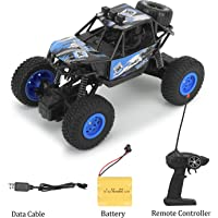 Caddle&Toes™ Remote Controlled Monster Carr Like Model Sports Car and Remote Opening Doors and Remote with Toy.Best Birthday Gift for Kids (Blue)