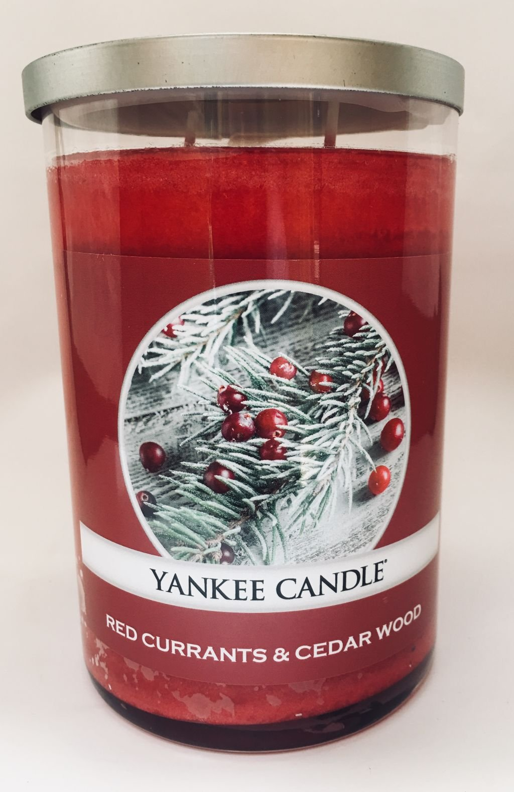 Yankee Candle Large 2 Wick RED CURRANTS & CEDAR WOOD Tumbler Candle