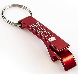 Keychain Bottle Opener - bartender bottle opener - Best Aluminum Bottle/Can Opener - Compact, Versatile & Durable - Vibrant Colors - Premium Keyring Bottle Opener - Ergonomic Design Red