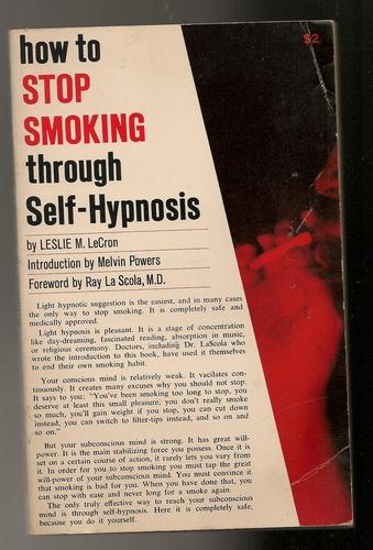 How to Stop Smoking Thru Self-Hypnosis