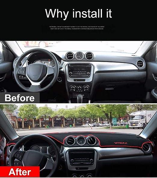 2015-2019 Blue ZPDM Car Dashboard Cover Dashboard Matte Sun Shade Pad Dashboard Carpets for Suzuki Vitara 4