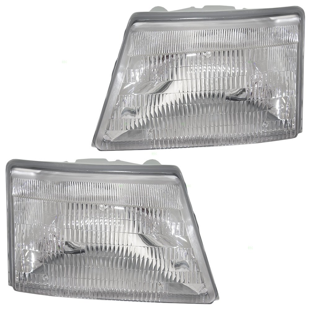 Driver and Passenger Headlights Headlamps Replacement for Ford Pickup Truck F87Z 13008 FB F87Z 13008 EB AUTOANDART.COM