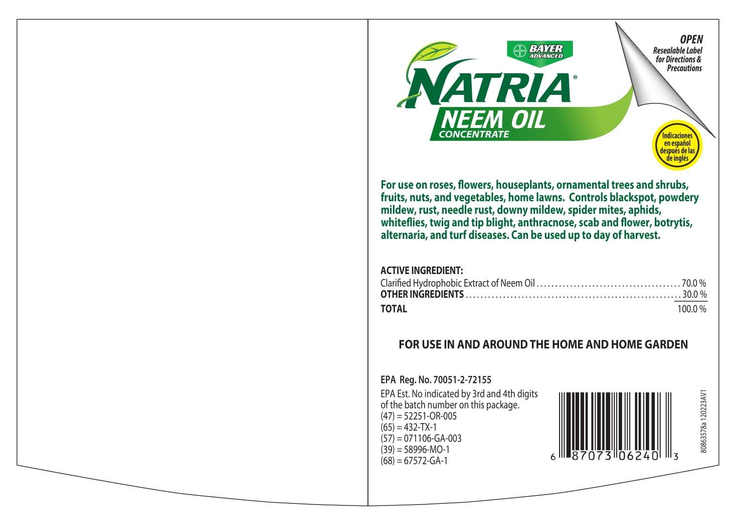 Amazon Tria 706240a Concentrate Neem Oil 24 Oz Blue Bottle