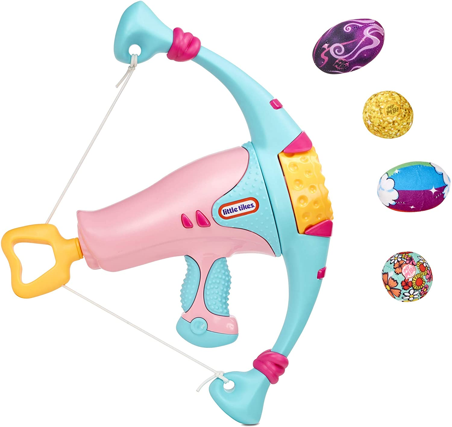 Little Tikes Mighty Blasters Power Bow Pink Toy Blaster with 4 Soft Power Pods for Kids Ages 3 Years and Up