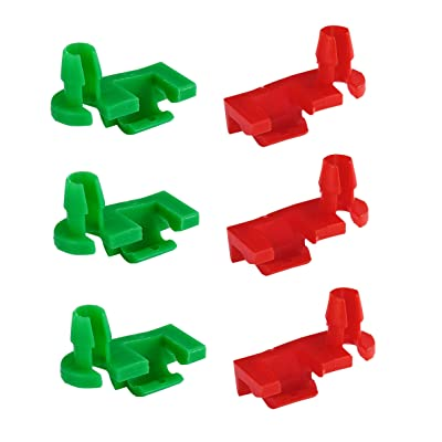 Dependable Direct (3 Pair) Left and Right Tailgate Handle Rod Clips for 1999-2007 GMC Silverado, Sierra, Chevy - OEM#: 88981030, 88981031: Automotive
