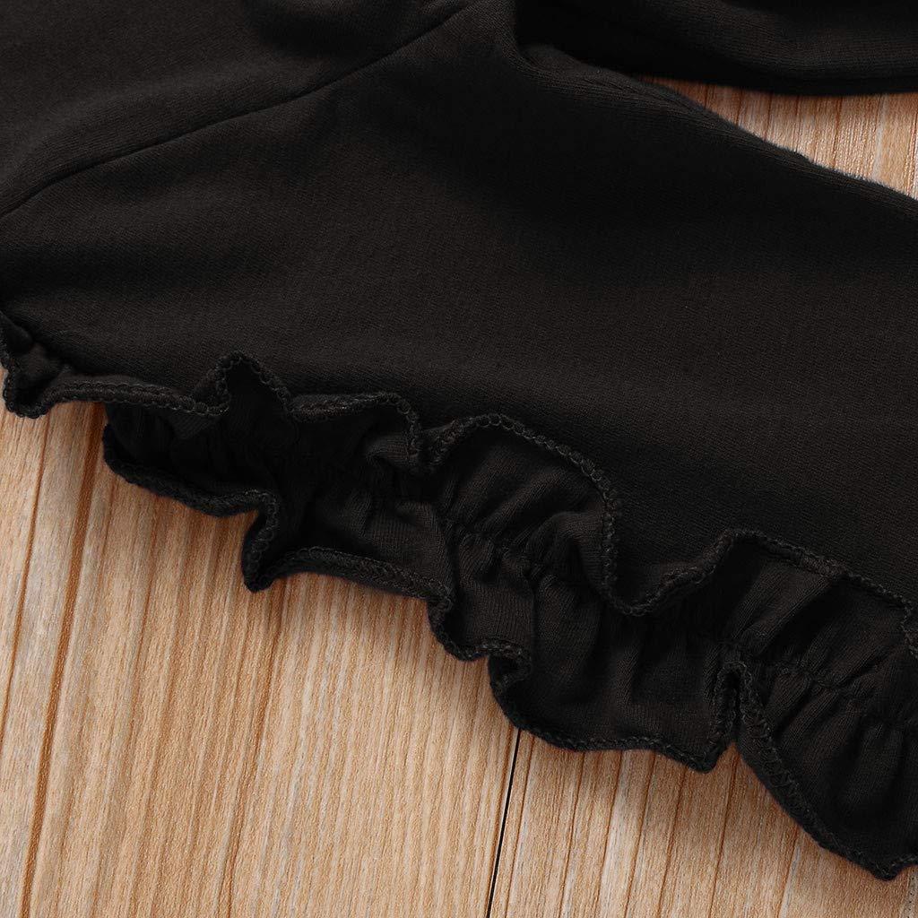 0-3 A/ños,SO-buts Ni/ños Peque/ños Beb/és Ni/ñas Oto/ño Invierno Ch/ándal Manga Larga Casual Volantes Tops Pantalones S/ólidos Pijamas Conjuntos