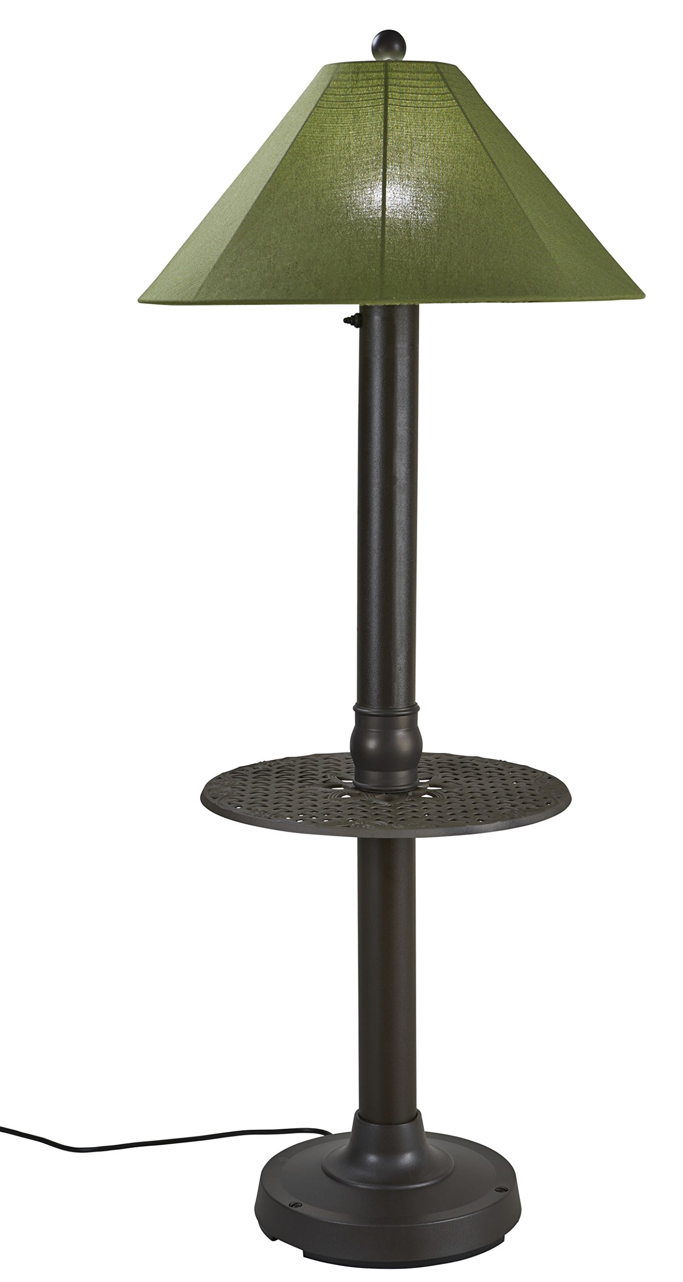 Patio Living Concepts 65697 Catalina Outdoor Floor Lamp with Table by Patio Living Concepts