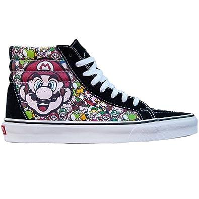 819fd87de93744 Vans x Nintendo Men Sk8-Hi Reissue - Super Mario Brothers (black   true  white) Size 5 US  Amazon.co.uk  Shoes   Bags