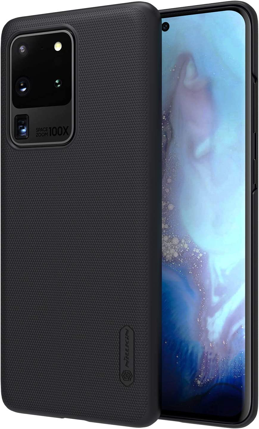 Nillkin Samsung Galaxy S20 Ultra Case - Slim Frosted Case Full Cover Protection, Anti-Falling, Anti-Fingerprint Simple Style Case for Galaxy S20 Ultra 5G 6.9 inch 2020, Black