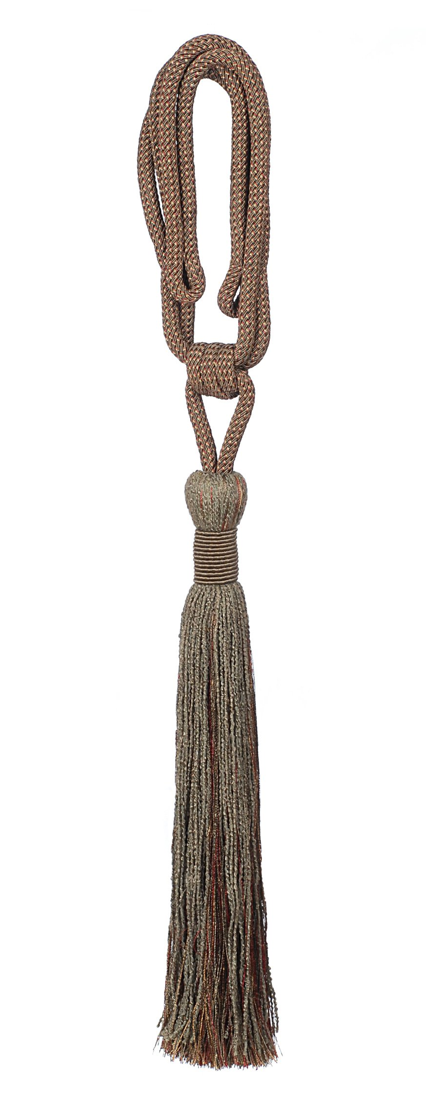 India House 79978 Vedi Tieback with 15-Inch Single Tassel and 30-Inch Cord, Tuscany