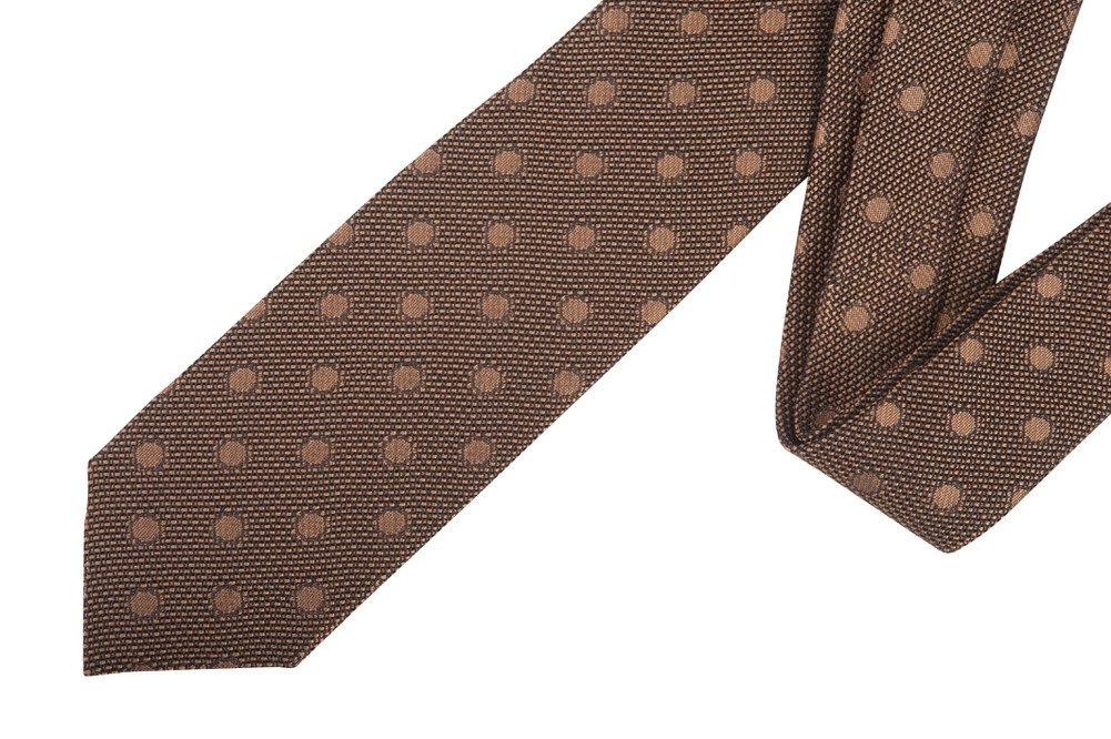 Tom Ford Brown Polka Dot Silk Neck Tie