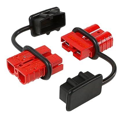 71H8bZ29dDL._SX425_ amazon com 12 36v dc, 50a 6 8 gauge battery quick connect