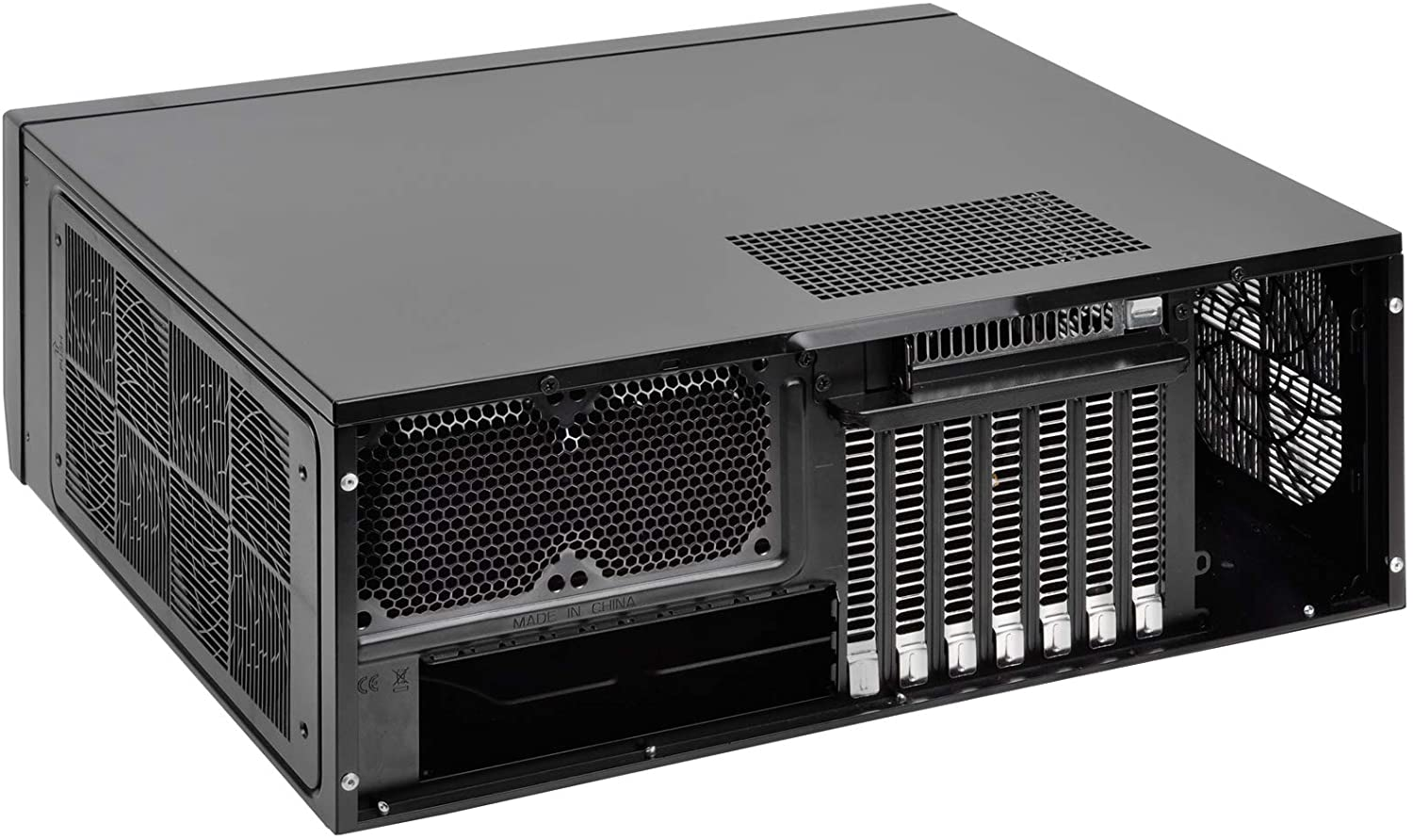 HTPC with Faux Aluminum Design for ATX//Micro-ATX Motherboards SST-GD09B-USA SilverStone Technology Home Theater Computer Case