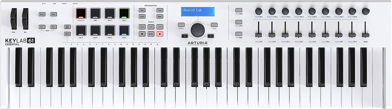 Arturia KeyLab 61 Essential | 61 Key MIDI Controller Keyboard