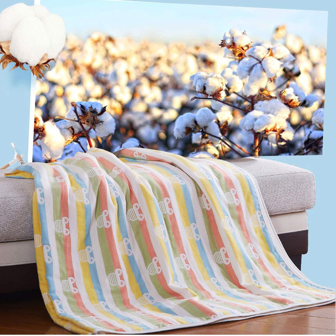 Levoberg Couverture B/éb/é,100/% Coton Moelleux,6 Couches Mousseline,90x100cm,Couverture Emmaillotage B/éb/é,Couverture Enfant Poussette Lit,Lavable en Machine #1