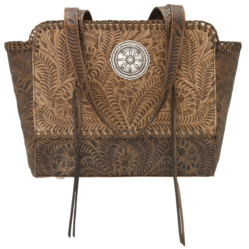 American West Women's Copper Annie's Concealed Carry Tote Tan One Size by American West (Image #1)