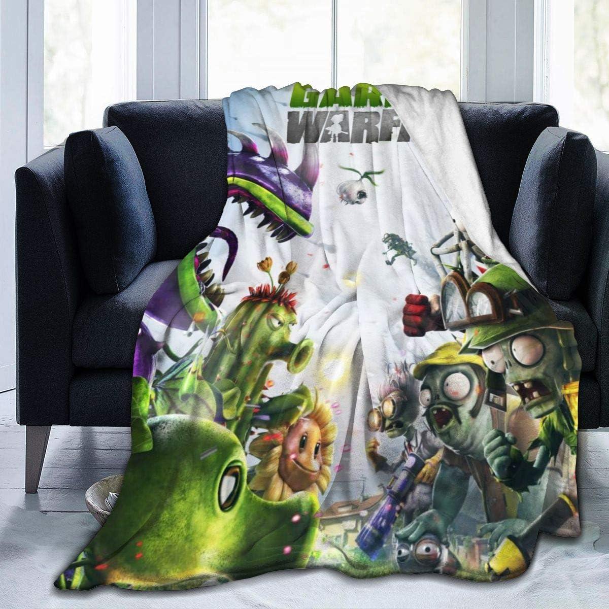 "Plants Vs Zombies Garden Warfare Home Microplush Fleece Blanket - Throw/Travel - Ultra-Soft Velvet - Luxurious Fuzzy Fleece Fur - Cozy Lightweight - Easy Care - All Season Premium Bed Blanket 50""x40"""