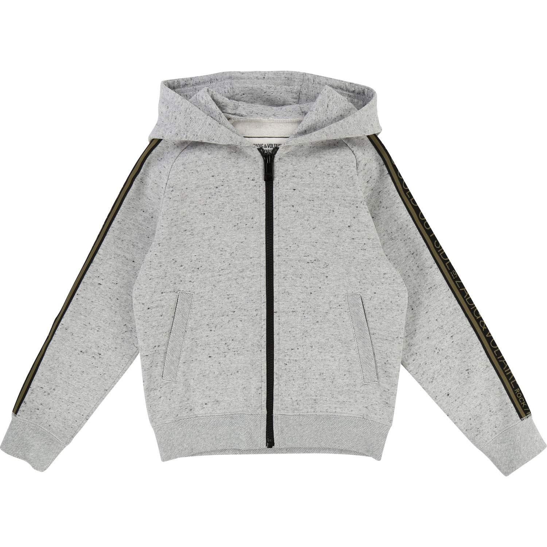 gris 158 164 cm Zadig & Voltaire - Sweat-Shirt à Capuche - à Logo - Homme