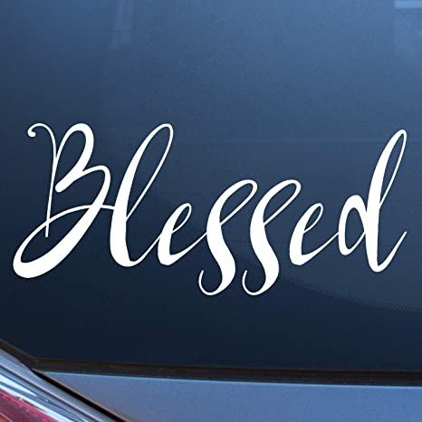 Window Stickers For Cars >> Craftelife Blessed Car Decal Bumper Sticker 11 X 4 5 Inches Vinyl Decals For Cars Truck Van Motorcycle Window Or Laptop Inspirational Car