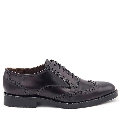 En Hombre Piel Burdeos Blucher De Castellanisimos Zapatos 8n0wkXOP