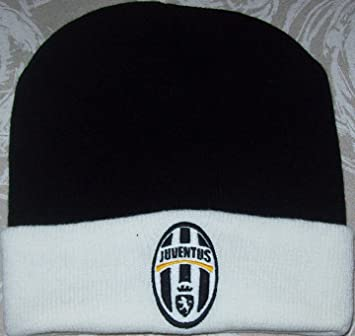 37b54b2a86e2ef Juventus Juve Official Beanie Hat, NERA (risvolto bianco), tg. UNICA ...