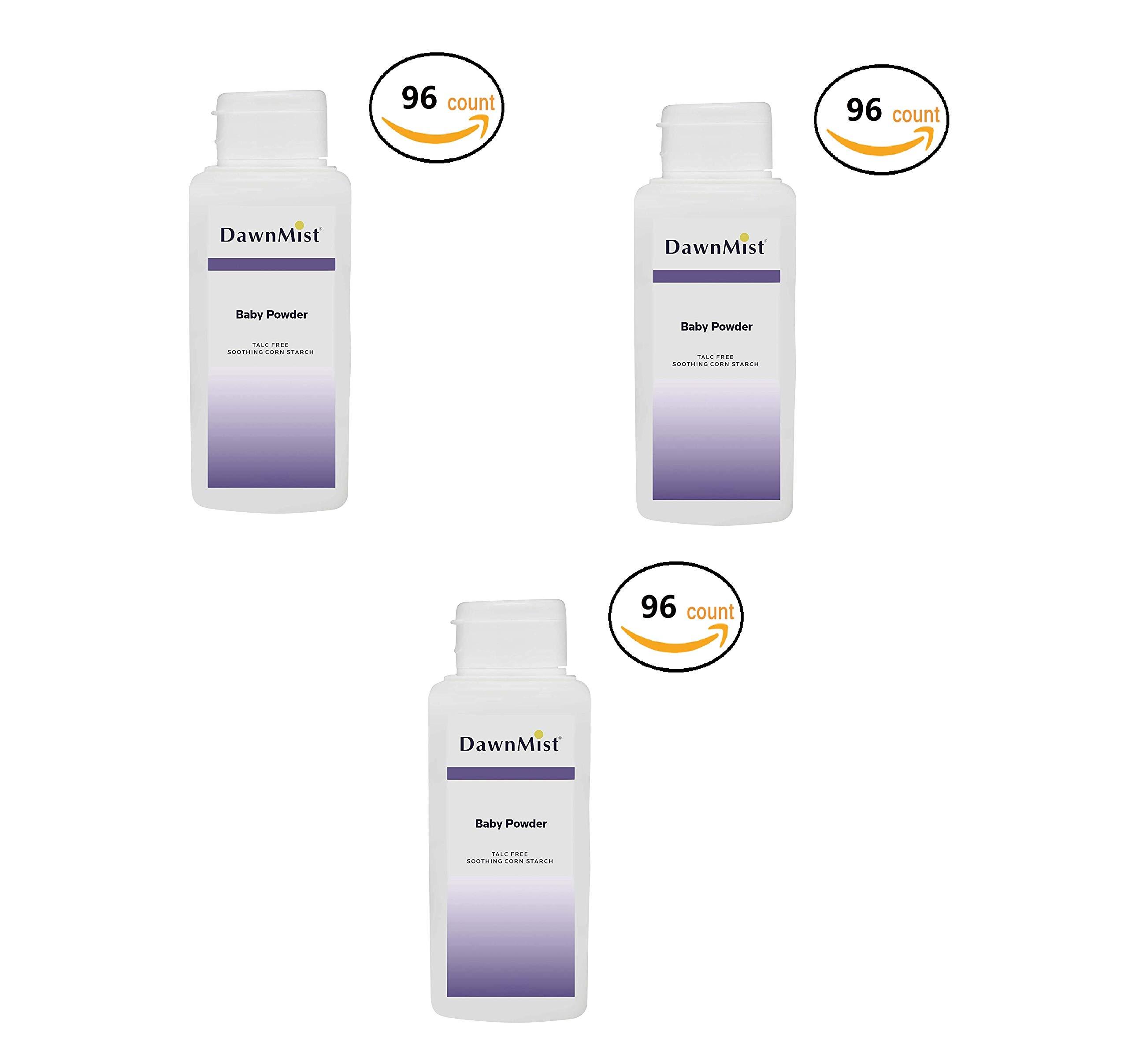 Dukal BP02 Dawn Mist Baby Powder, Cornstarch, 2 oz, 96 Count (3 Pack)