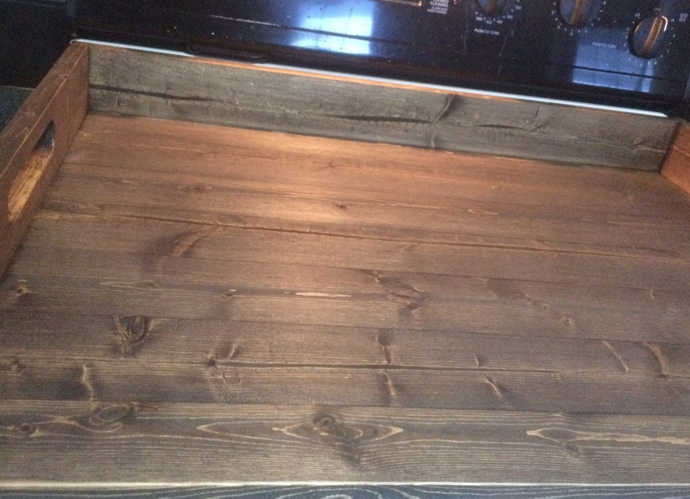 Rustic noodle board, stove top cover, stove board by LodgeDecorNMore (Image #5)