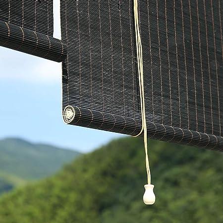 FF Estores enrollables Persianas Enrollables Negras para Exteriores para Pérgola De Patio con Glorieta, Parasol Exterior Opaco, Fácil De Arreglar, 80/100/120/130/140cm De Ancho (Size : 80×180cm): Amazon.es: Hogar